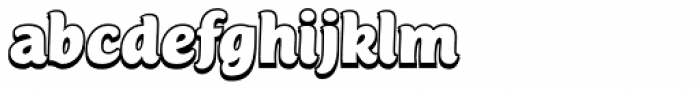 Mijas Ultra Shadow Font LOWERCASE