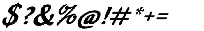 Mikal Slanted Font OTHER CHARS