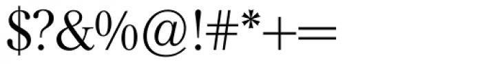 Mikaway BQ Light OsF Font OTHER CHARS