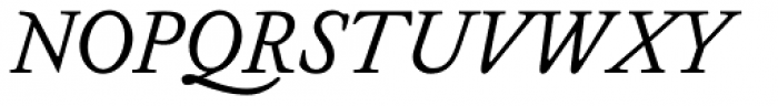 Miklos Italic Font UPPERCASE