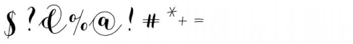 Mila Script Basic Font OTHER CHARS