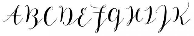Mila Script Basic Font UPPERCASE
