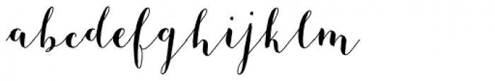 Mila Script Basic Font LOWERCASE