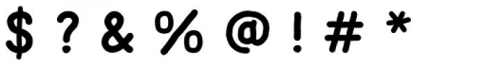 Mila Script Sans Bold Font OTHER CHARS