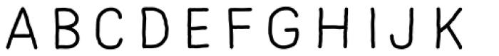 Mila Script Sans Light Font LOWERCASE