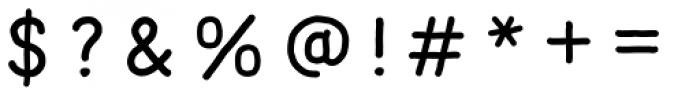 Mila Script Sans Regular Font OTHER CHARS