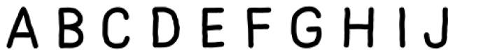 Mila Script Sans Regular Font UPPERCASE