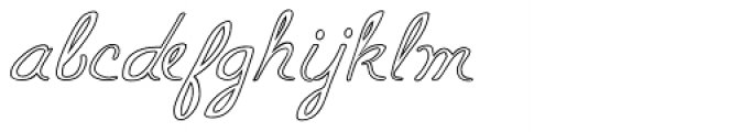 Mildred Cocktail Font LOWERCASE