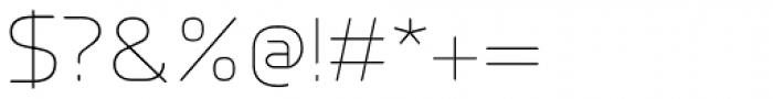 Millar UltraLight Font OTHER CHARS