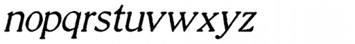 Millesime Italic Font LOWERCASE