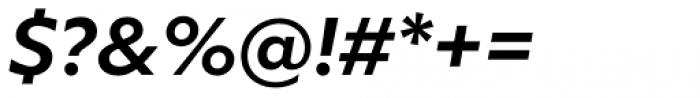 Milliard Semi Bold Italic Font OTHER CHARS