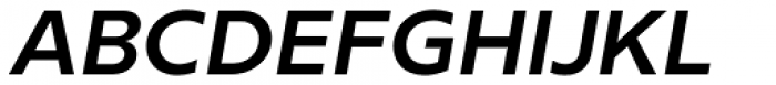 Milliard Semi Bold Italic Font UPPERCASE