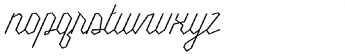 Millie Round Thin Font LOWERCASE