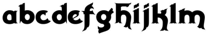 Milligan Font LOWERCASE