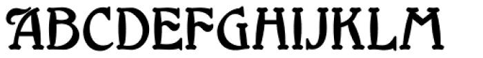 Millrich Grange NF Font UPPERCASE