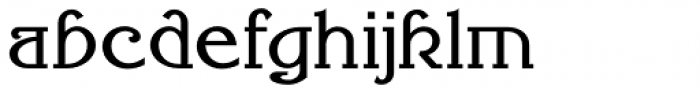 Millrich Reading NF Font LOWERCASE