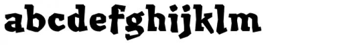 Millwright black Font LOWERCASE