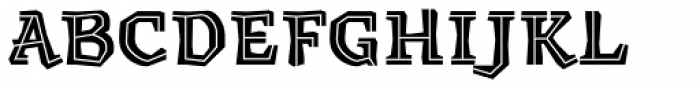 Millwright inline Font UPPERCASE