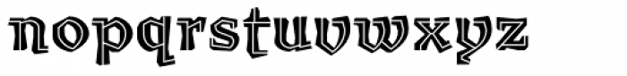 Millwright inline Font LOWERCASE