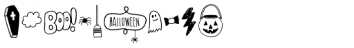 Mimbie Spooky Ornaments Font OTHER CHARS