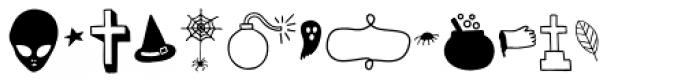 Mimbie Spooky Ornaments Font LOWERCASE