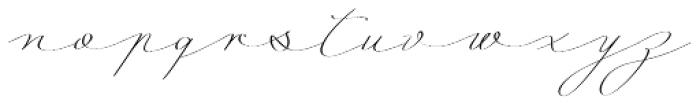 Mina Calligraphic Light Font LOWERCASE