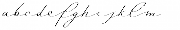Mina Calligraphic Regular Font LOWERCASE