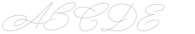 Mina Noodle Thin Font UPPERCASE