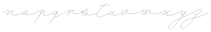 Mina Thin Font LOWERCASE