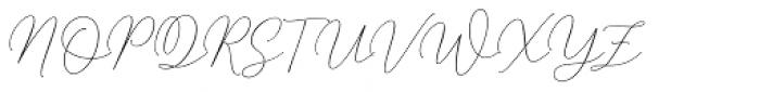Mindline Script Bold Italic Font UPPERCASE