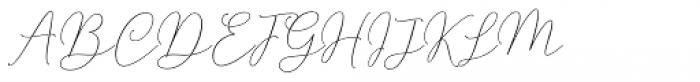 Mindline Script Bold Font UPPERCASE