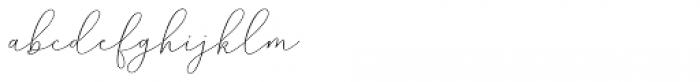 Mindline Script Bold Font LOWERCASE