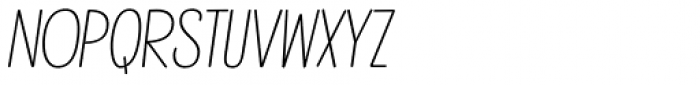 Mindwalk Regular Slanted Font LOWERCASE