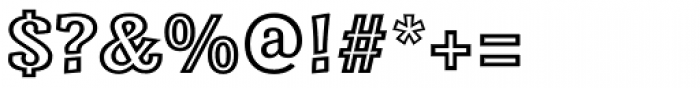 Minernil Outline Font OTHER CHARS