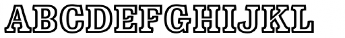 Minernil Outline Font UPPERCASE