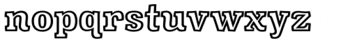 Minernil Outline Font LOWERCASE