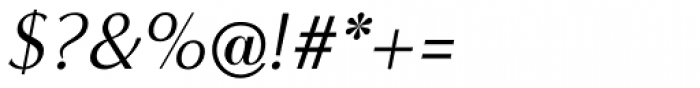 Minerva Modern Italic Font OTHER CHARS