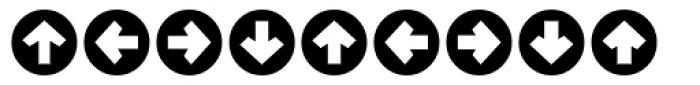 Mini Pics Directional RA Font OTHER CHARS