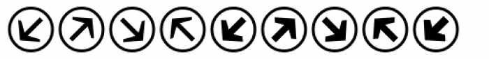 Mini Pics Directional RA Font LOWERCASE