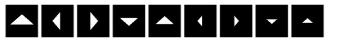 Mini Pics Directional ST Font OTHER CHARS