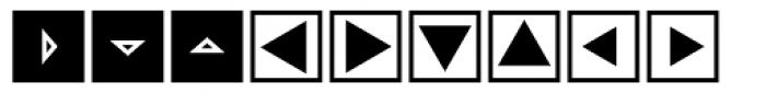 Mini Pics Directional ST Font UPPERCASE