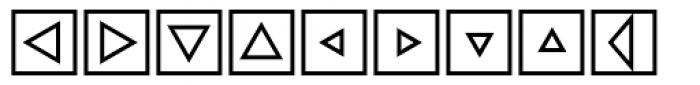 Mini Pics Directional ST Font LOWERCASE