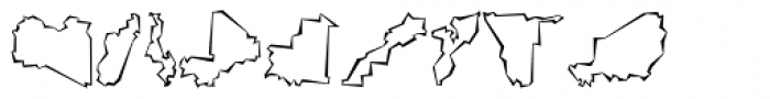 Mini Pics Global S Cutout Font LOWERCASE