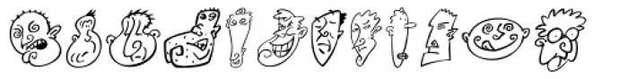 Mini Pics Head Buddies Font LOWERCASE