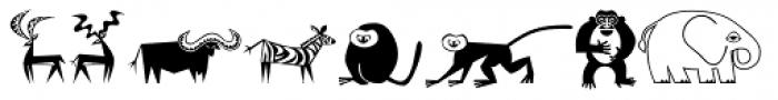 Mini Pics Lil Critters Font UPPERCASE
