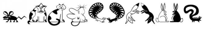 Mini Pics Lil Critters Font LOWERCASE