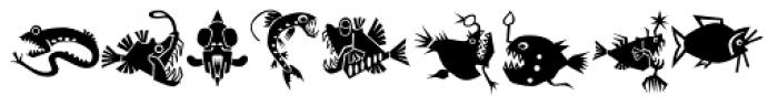 Mini Pics Lil Fishies Font OTHER CHARS