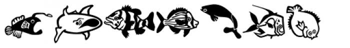 Mini Pics Lil Fishies Font UPPERCASE