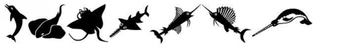 Mini Pics Lil Fishies Font LOWERCASE