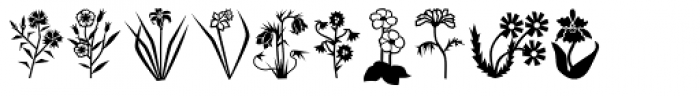 Mini Pics Lil Flowers Font OTHER CHARS